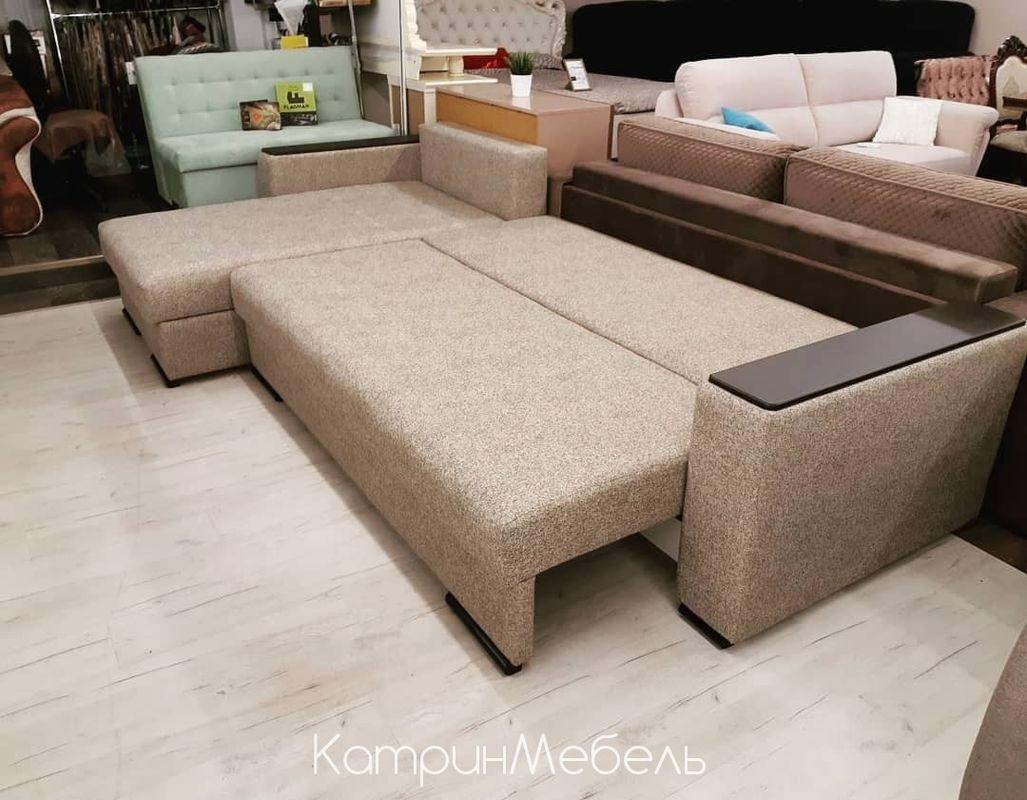 Диван DM-мебель Премьер-2 (угловой, бежевый/коричневый) - фото 3