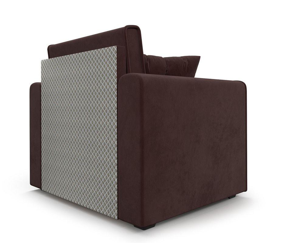 Кресло Мебель-АРС Санта (велюр шоколадный) - фото 5