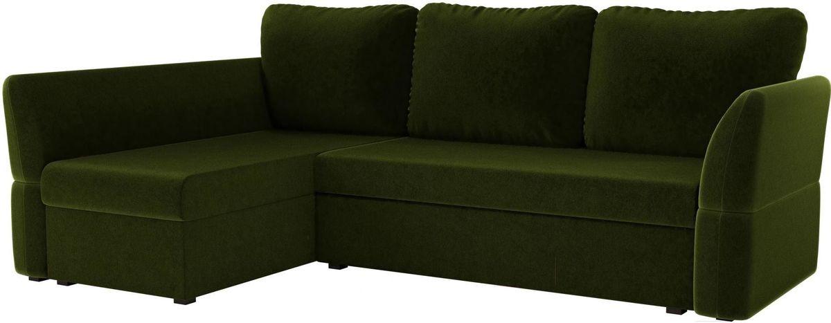 Диван Mebelico Гесен 100 левый 60059 микровельвет зеленый - фото 1