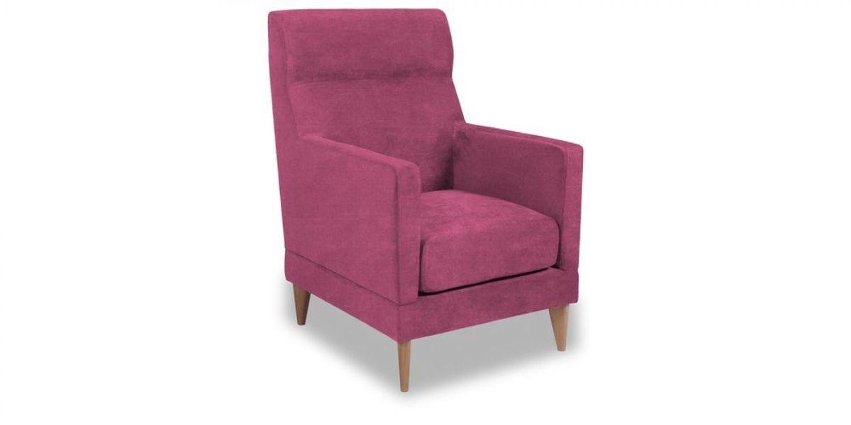 Кресло WOWIN Полар высокое (Фуксия велюр) - фото 1