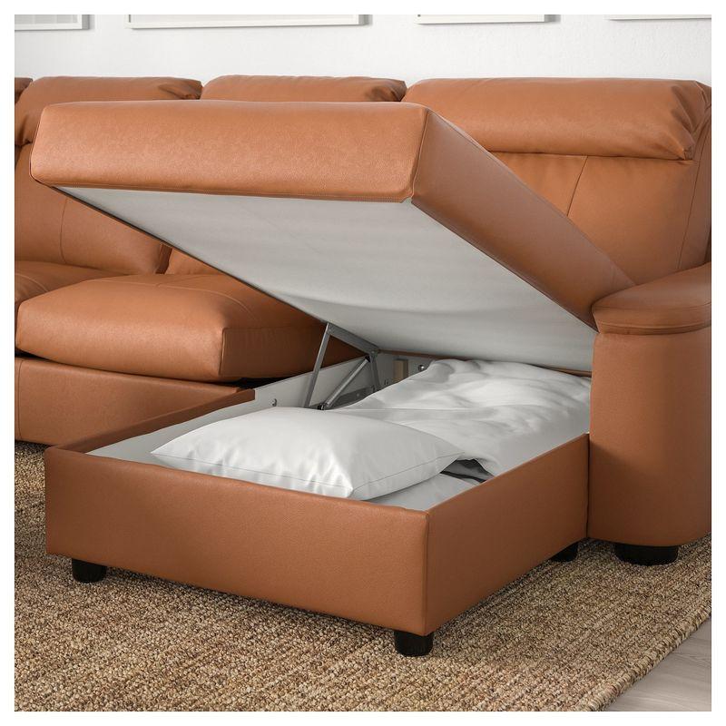 Диван IKEA Лидгульт золотисто-коричневый [692.776.23] - фото 4