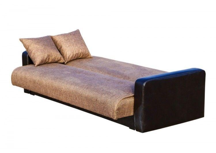 Диван Луховицкая мебельная фабрика Лондон рогожка коричневая (комби) 120x190 - фото 3