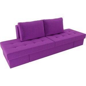 Диван ЛигаДиванов Сплит микровельвет фиолетовый - фото 2