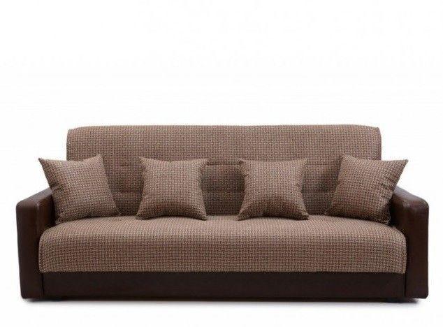 Диван Луховицкая мебельная фабрика Лондон (корфу микс коричневый) пружинный 120x190 - фото 1