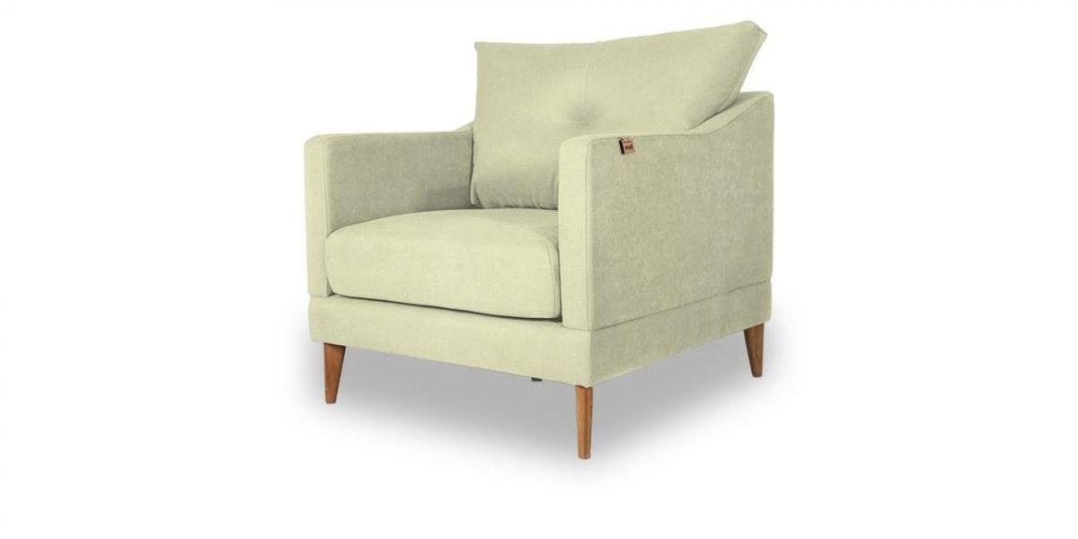 Кресло WOWIN Полар (Молочный велюр) - фото 1