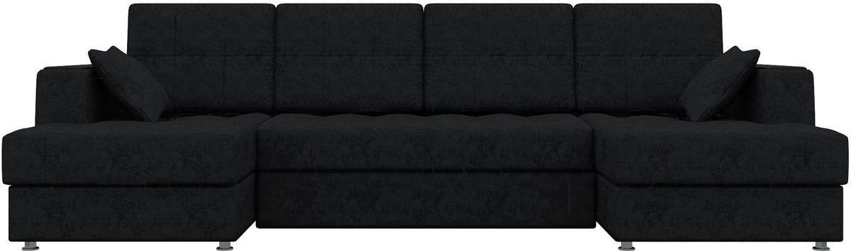 Диван Mebelico Эмир-П 85 микровельвет черный - фото 2