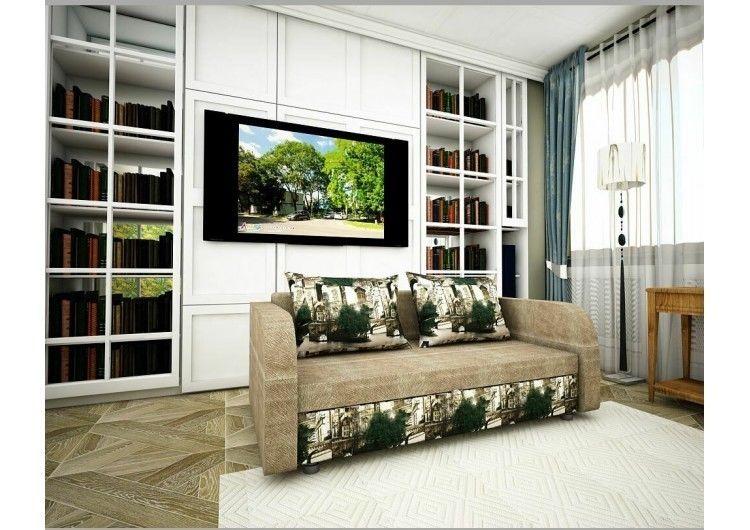 Диван Раевская мебельная фабрика Малыш с подлокотниками Флок+микровелюр Париж 00627 - фото 1
