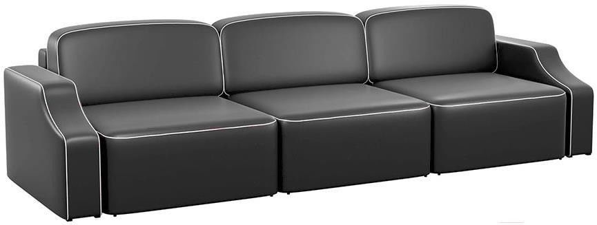 Диван Mebelico Триумф Long Slide 59 экокожа черный [59398] - фото 1