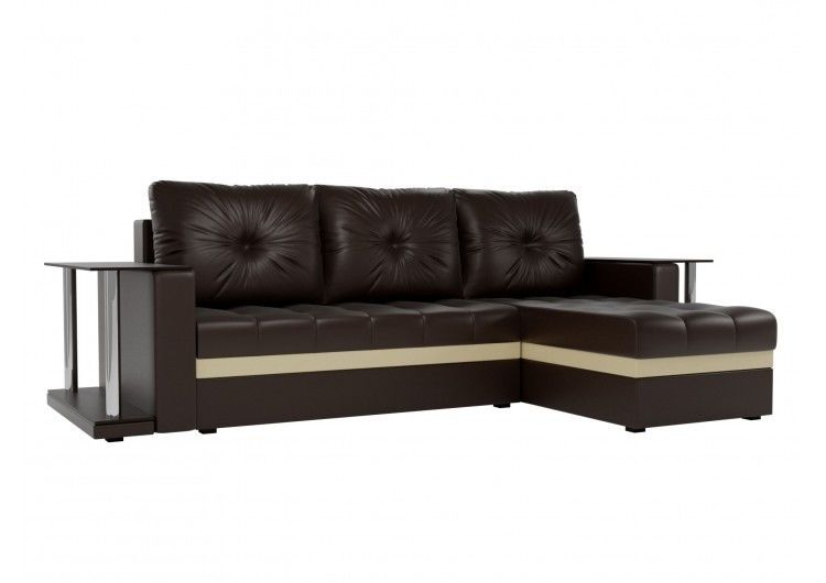 Диван Craftmebel Атланта М два стола (темно-коричневая экокожа) - фото 1