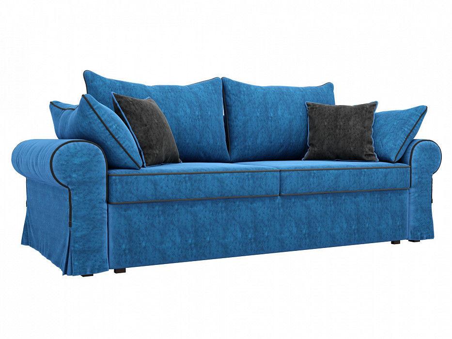 Диван Mebelico прямой Элис Велюр голубой - фото 1
