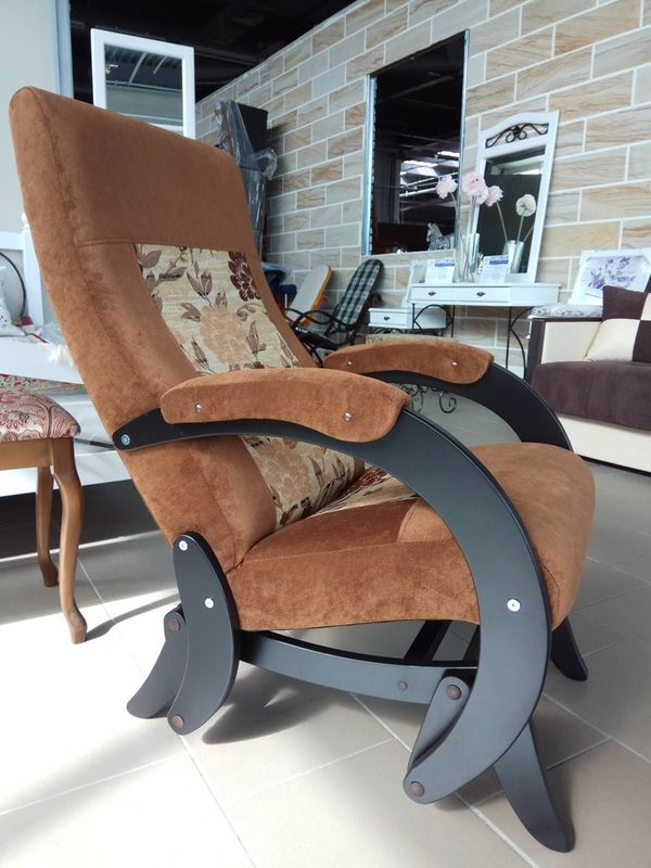 Кресло Бастион 1М глайдер (pearl 108 +цветы) - фото 2