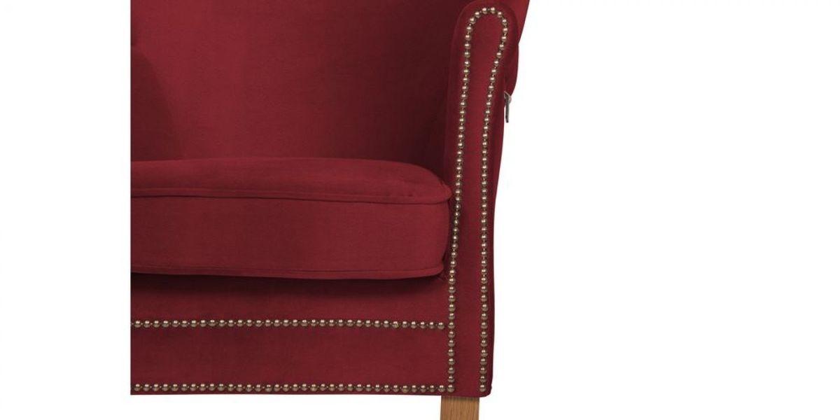 Кресло WOWIN Голден (Бордовый велюр) - фото 9