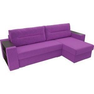 Диван ЛигаДиванов Эридан угол правый микровельвет фиолетовый - фото 2