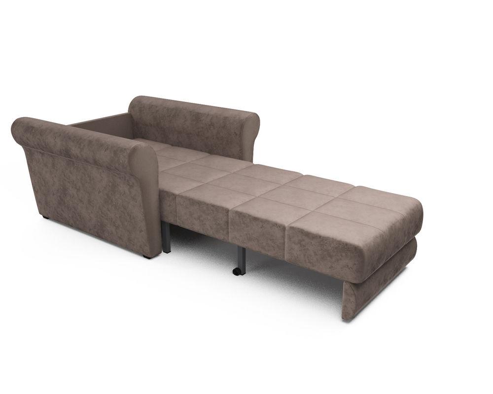 Кресло Мебель-АРС Гранд (бархат серо-шоколадный) - фото 6