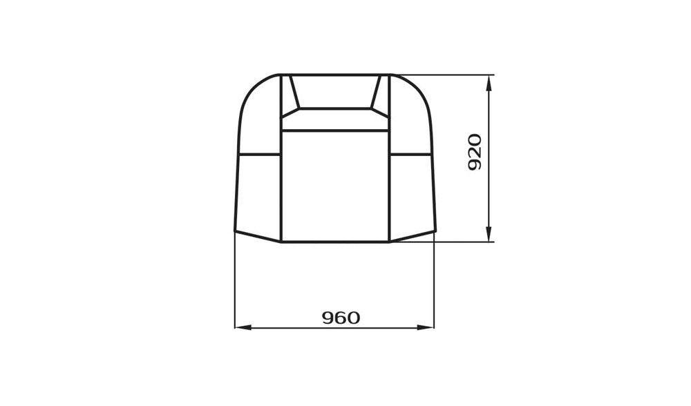 Кресло LAMA мебель Андромеда 1 - фото 3