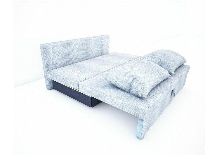 Диван Раевская мебельная фабрика Малыш флок светло серый 00588 - фото 2
