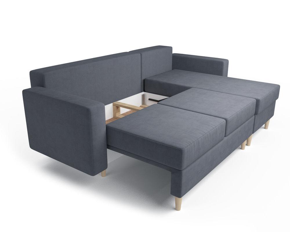 Диван Мебель-АРС Белфаст (велюр серо-синий / НВ-178/26) - фото 6