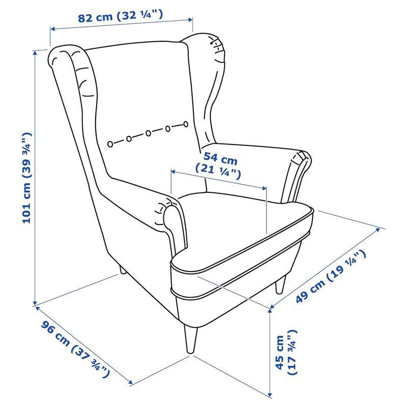 Кресло IKEA Страндмон 704.198.86 - фото 6