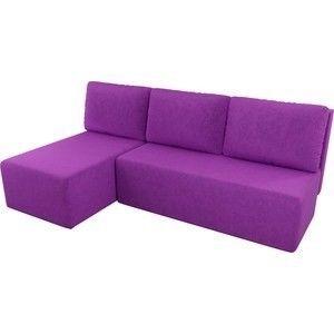 Диван АртМебель Поло угол левый микровельвет фиолетовый - фото 3