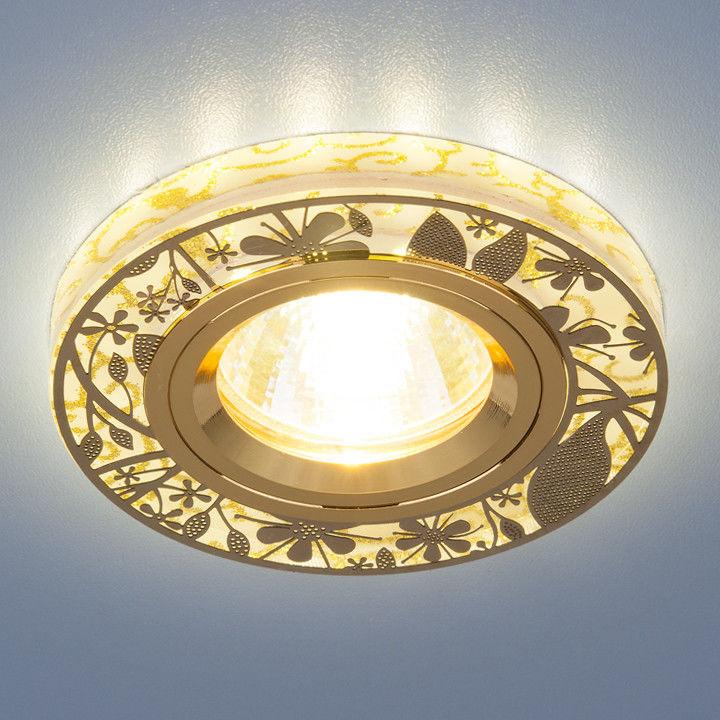 Встраиваемый светильник Elektrostandard 8096 MR16 GD золото - фото 1