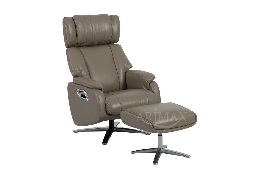 Кресло Arimax Dr Max DM02009 (Кофе с молоком) с подставкой для ног - фото 1