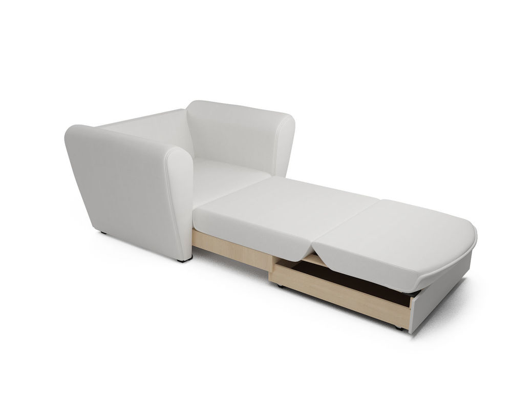 Кресло Мебель-АРС Квартет - экокожа белая - фото 7