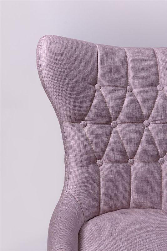 Кресло ФорестДекоГрупп Мимоза (розовый/черный) MIMOZA-PK-BL - фото 4