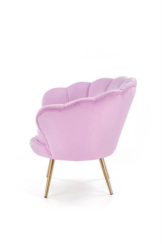 Кресло Halmar AMORINO (фиолетовый/золотой) V-CH-AMORINO-FOT-FIOLETOWY - фото 3