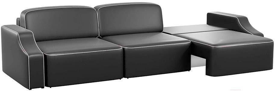 Диван Mebelico Триумф Long Slide 59 экокожа черный [59398] - фото 2