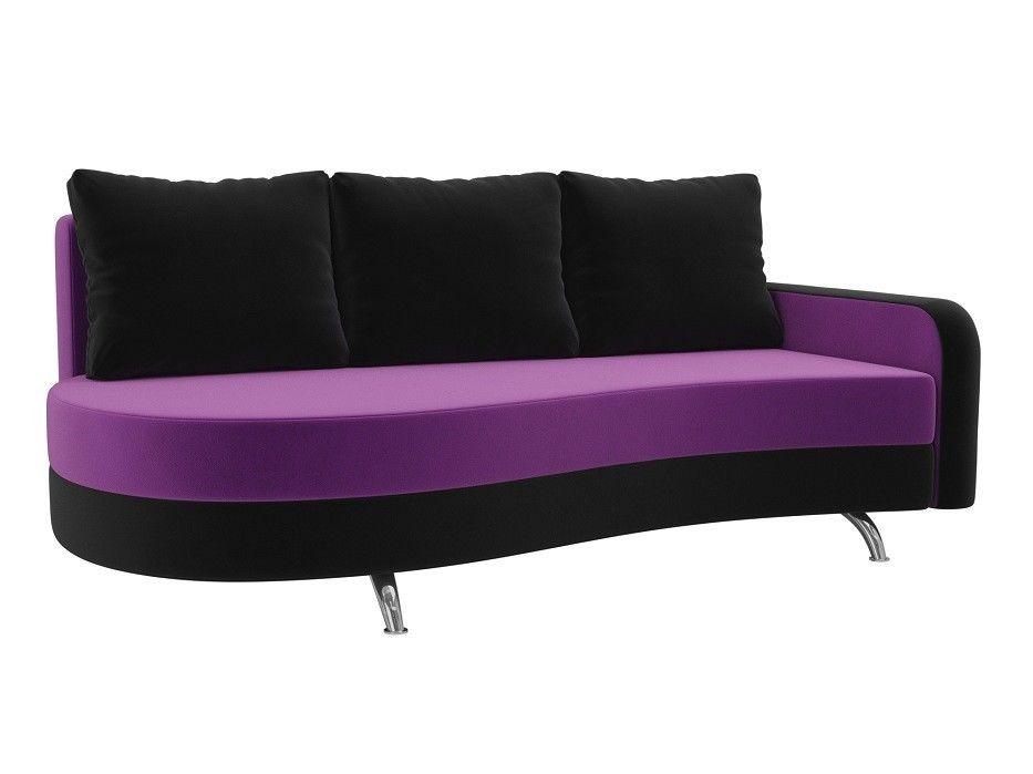 Диван ЛигаДиванов Премьер микровельвет (фиолетовый\черный) - фото 1