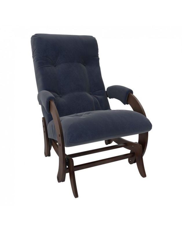 Кресло Impex Кресло-гляйдер Модель 68 Verona орех (Antrazite grey) - фото 4