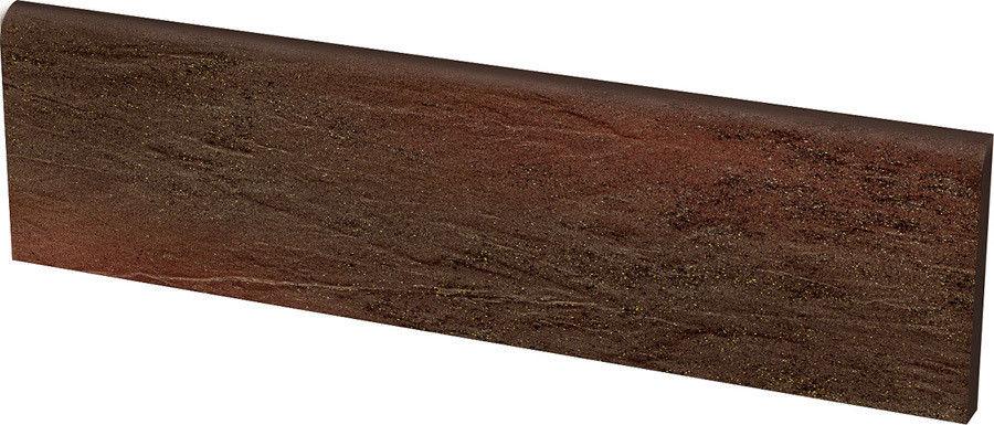 Клинкерная плитка Ceramika Paradyz Semir Brown цоколь 30x8,1 - фото 1