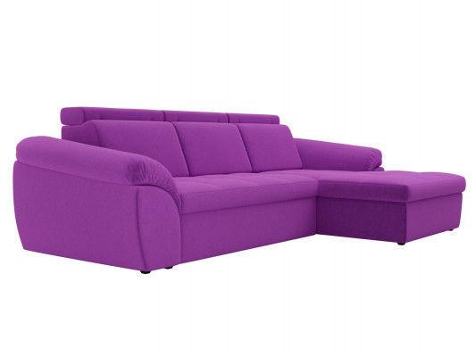 Диван ЛигаДиванов Мисандра угол правый микровельвет фиолетовый - фото 4