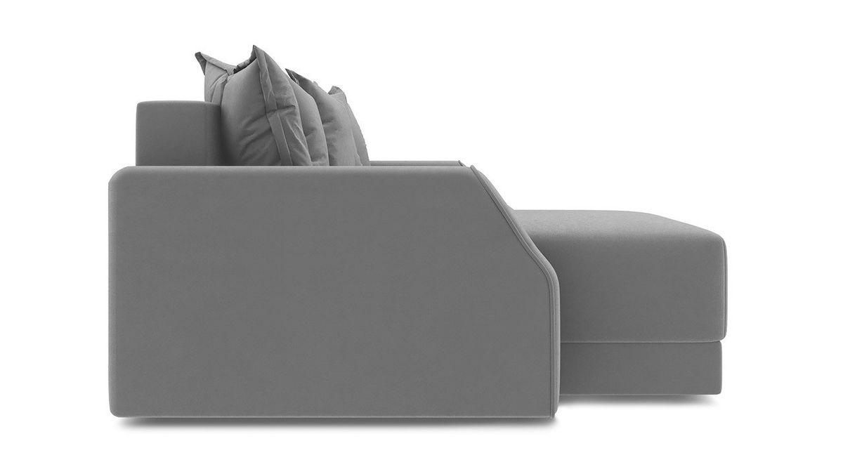 Диван ТриЯ левый «Люксор Slim Т1» (Neo 07 (рогожка) светло-серый) - фото 5
