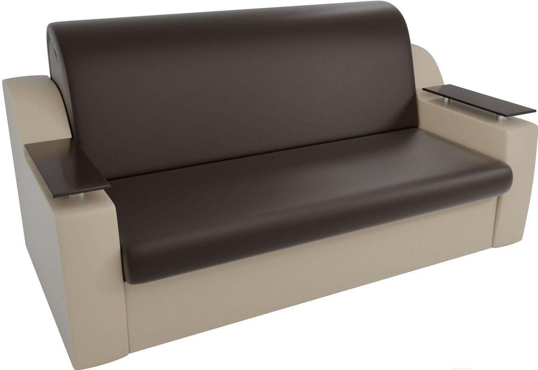 Диван Mebelico Сенатор 100725 100, экокожа коричневый/бежевый - фото 2