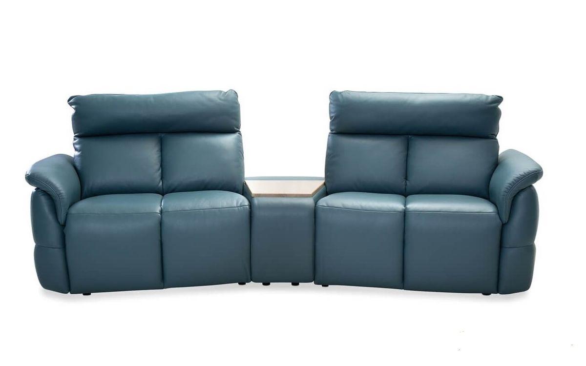 Набор мягкой мебели Gala Collezione Oviedo 285x103x102 (кожа) - фото 1