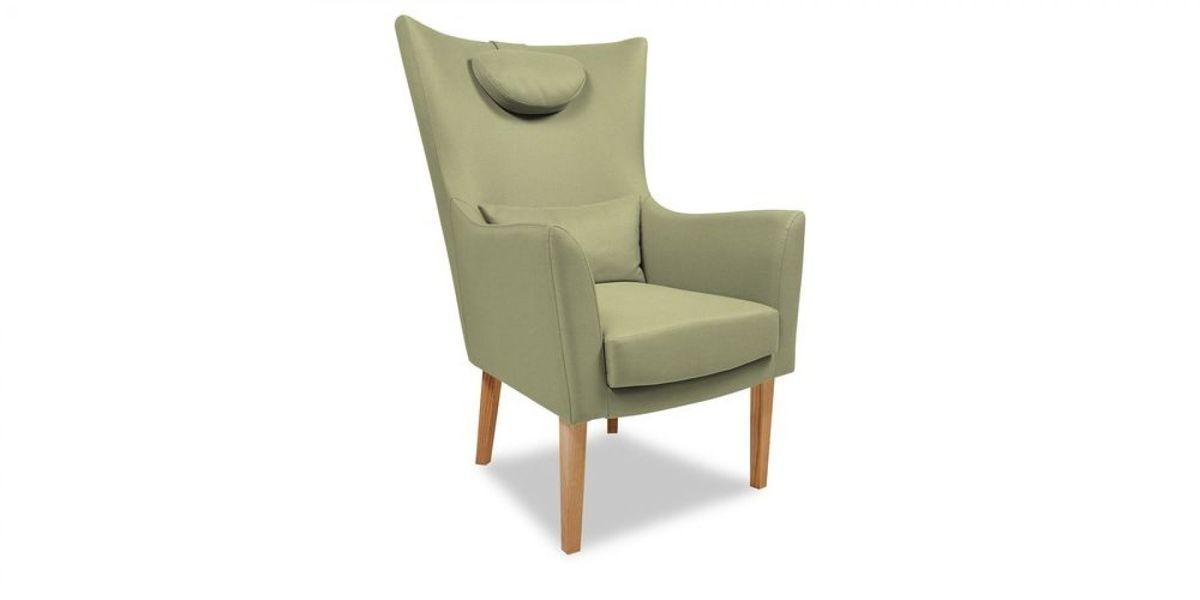 Кресло WOWIN Элеганза высокое (Серо-бежевая микророгожка) - фото 1