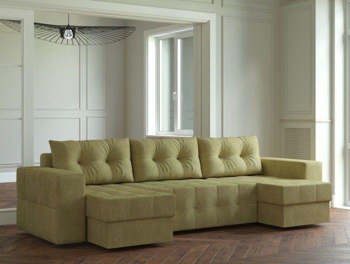 Диван Настоящая мебель Ванкувер Мейсон (модель: 00-00000067) светло-зелёный - фото 1