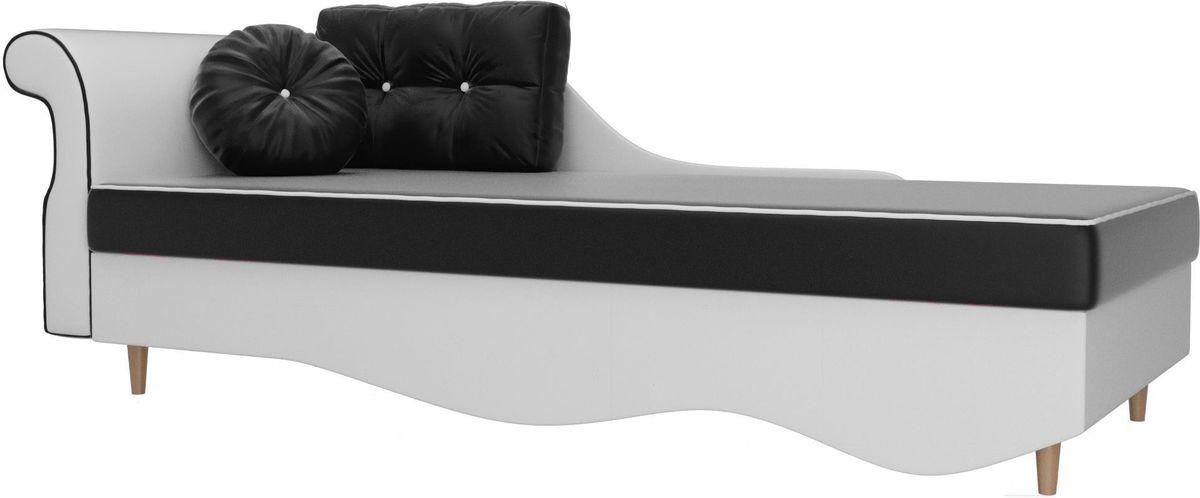 Диван Mebelico Лорд левый 101235 экокожа черный/белый - фото 1