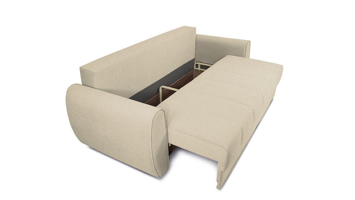 Диван ТриЯ «Бернард» (Neo 02 (рогожка) бежевый подушка Neo 04 (рогожка) светло-коричневый) - фото 5