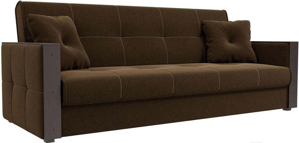 Диван Mebelico Валенсия 100605 микровельвет коричневый - фото 3