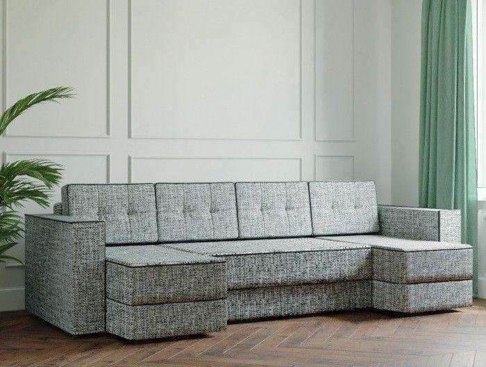 Диван Настоящая мебель Ванкувер Модерн (модель: 00-00000051) светло-серый - фото 1