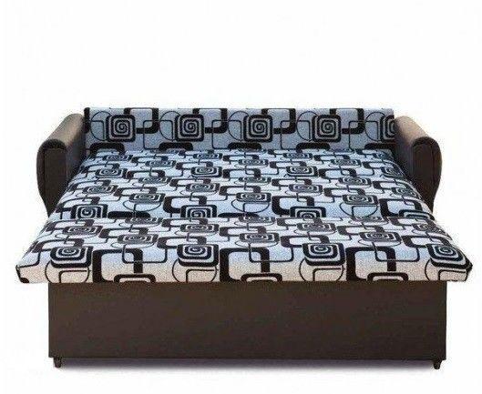 Диван Кристалл Аккордеон выкатной (80x195) коричневая экокожа - фото 3