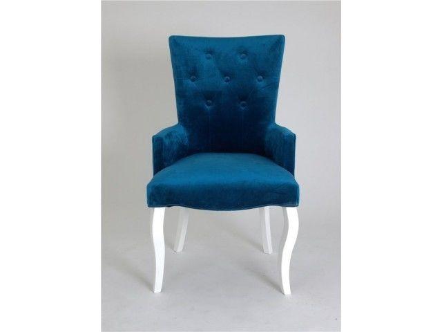 Кресло Red Black Виктория (эмаль белая/34 - королевский синий) - фото 2