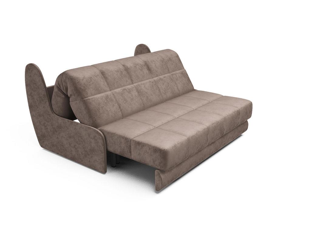 Диван Мебель-АРС Аккордеон Барон №2 (бархат серо-шоколадный  STAR VELVET 60 COFEE) - фото 5