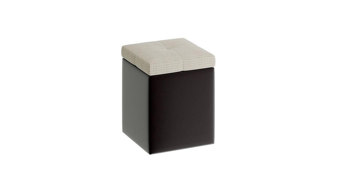 Пуфик ТриЯ «Домино» (Кожзам темный/ткань светлая) - фото 2