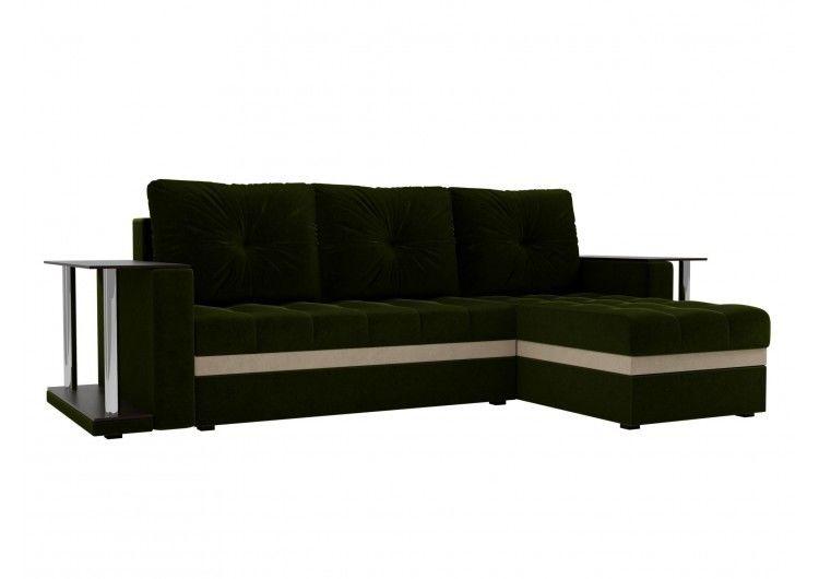 Диван Craftmebel Атланта М два стола (темно-зеленый) - фото 1