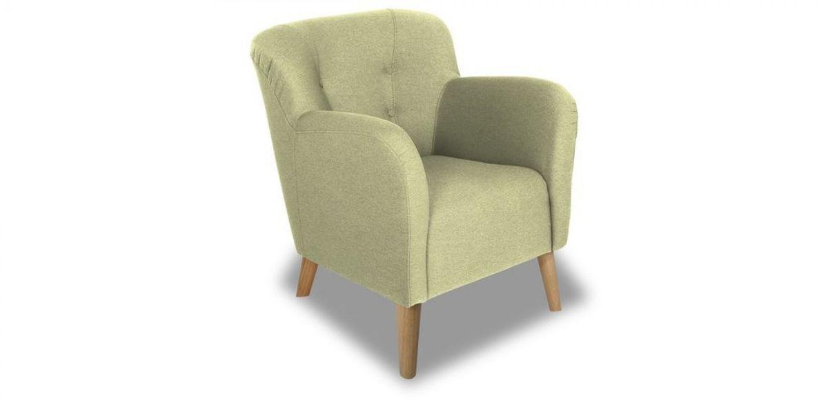 Кресло WOWIN Ингрид (Серо-бежевая микророгожка) - фото 1
