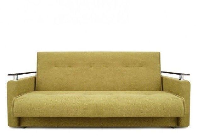 Диван Луховицкая мебельная фабрика Милан Люкс (Астра золотой) пружинный 120x190 - фото 2