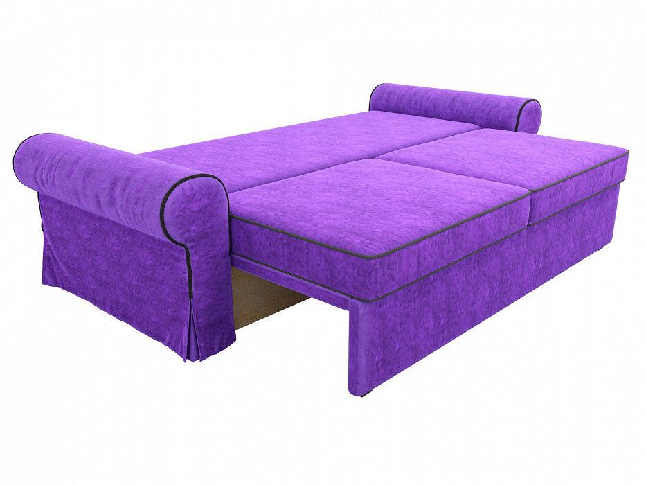Диван Mebelico Элис прямой Велюр фиолетовый\черный - фото 6